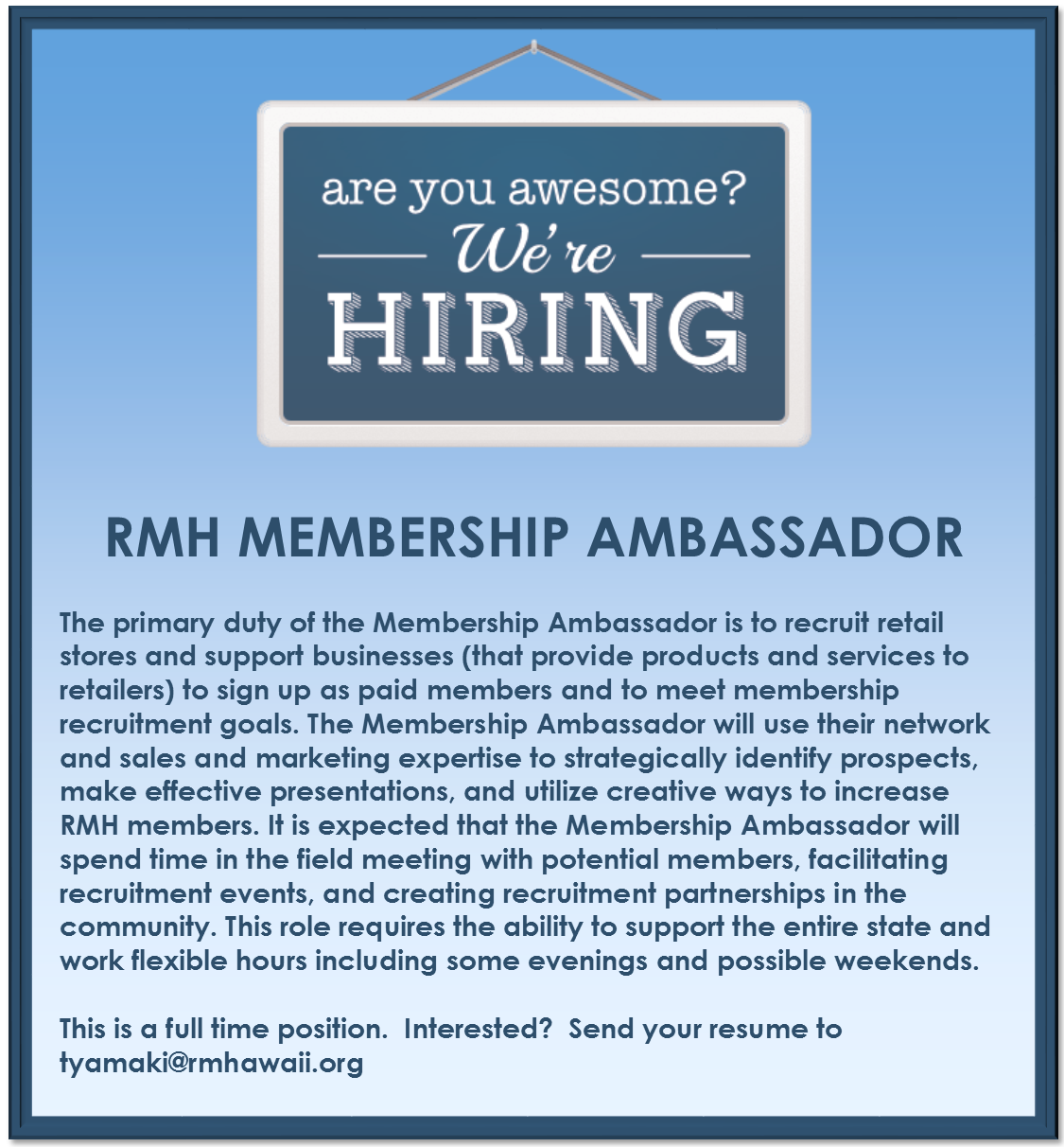 Membership Ambassador Wanted